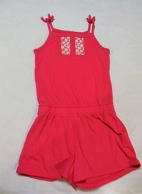 FADED GLORY Pink Star Print Short Romper Girls Size 7-8