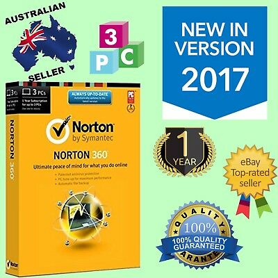 NORTON 360 2017 1 YEAR 3 USER INTERNET SECURITY [FAST SEND] Sale!