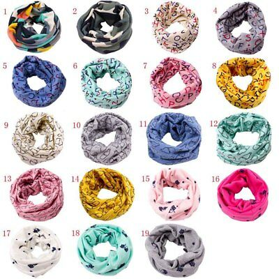 Winter Toddler Kids Baby Boys Girls Collar Scarf Cotton Neck Scarves Neck Wrap