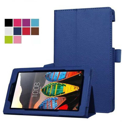 """Synthetic Leather Stand Case Cover For Lenovo Tab 2 A10 3 10 A7600 10.1"""" Tablet"""