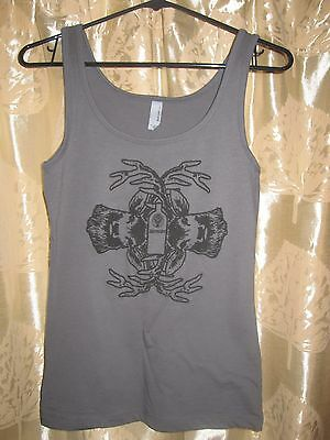 New GREY JAGER Jagermeister Shirt TANK Top Merch Women's Ladies MEDIUM