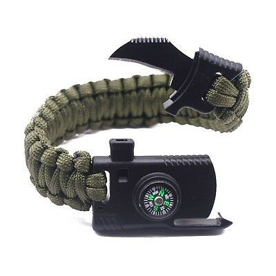 Best Outdoor Paracord Survival Bracelet 500 LB - Hiking Travelling Camping Ge...