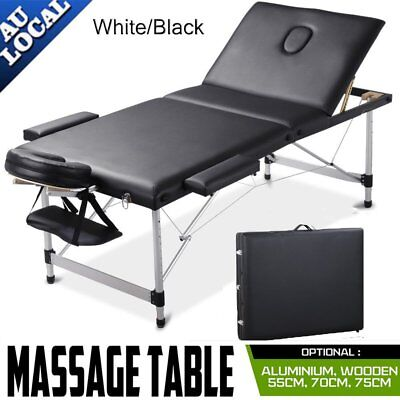 Massage Table Portable Aluminium/Wooden 2/3 Fold Bed Therapy Waxing LS