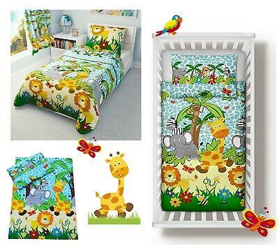 Blue Jungle Baby Bedding Set Duvet Covers/Curtains for Cot/Cot bed/Toddler