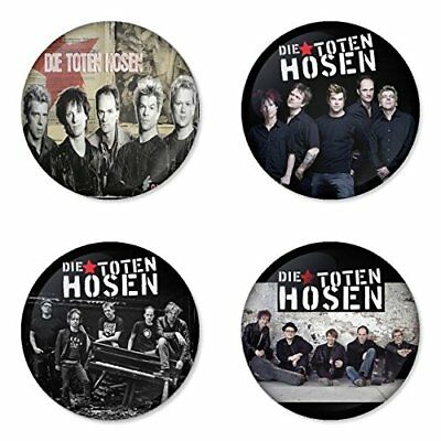 Die Toten Hosen, B - 4 chapas, pin, badge, button