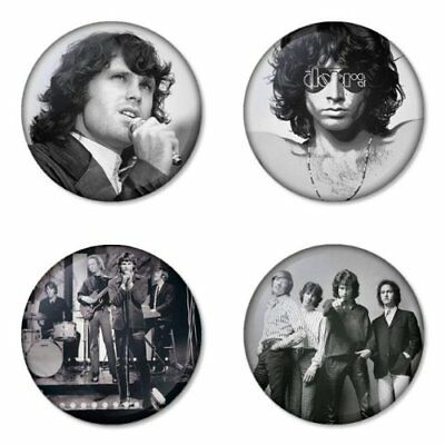 The Doors, B - 4 chapas, pin, badge, button