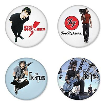 Foo Fighters, B - 4 chapas, pin, badge, button