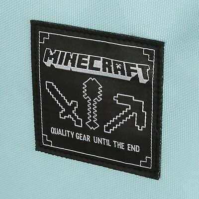 "Minecraft 18"" Diamond Backpack JINX BLUE BRAND NEW! By MOJANG"