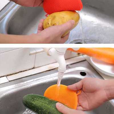Silicone Cleaning Dish Brush Washer Scrubber Scouring Mat Pad Liner Food Boiler