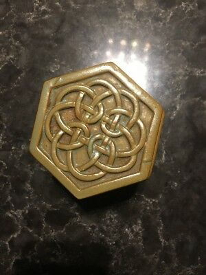 'Tyn Llan' Welsh Studio Pottery Celtic Design Trinket Box,