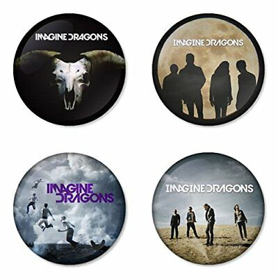 Imagine Dragons, B - 4 chapas, pin, badge, button