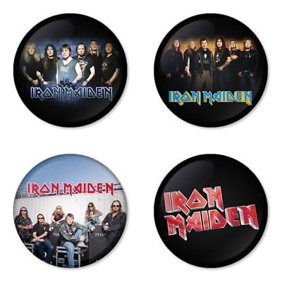 Iron Maiden, B - 4 chapas, pin, badge, button