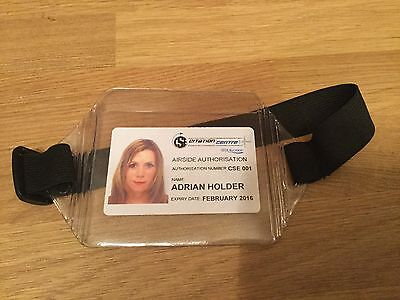 Landscape Style ID Armband SIA Security Badge Pass Card Holder Door Supervisor
