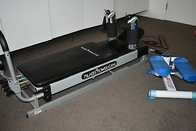 Reformer PILATES BED POWER GYM MACHINE INCLUDES  WORKOUT DVD & Stepper