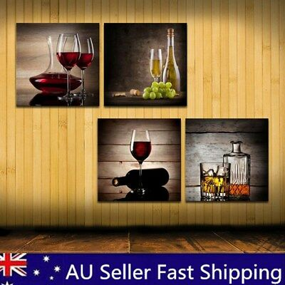 NEW Framed Abstract Wine Canvas Art Oil Print Painting Pictures Wall Home Decor