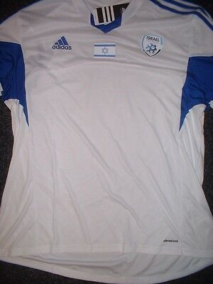 Israel Adult Small XL BNWT New Shirt Jersey Football Soccer Trikot adidas S/S