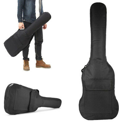 Thick Padded Electric Guitar Gig Bag Double Strap Soft Case Backpack Pocket Bags