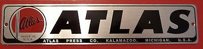 "New Atlas, Craftsman, Sears Name Plate, Label 1 3/16"" H, 5 3/4"" Long"
