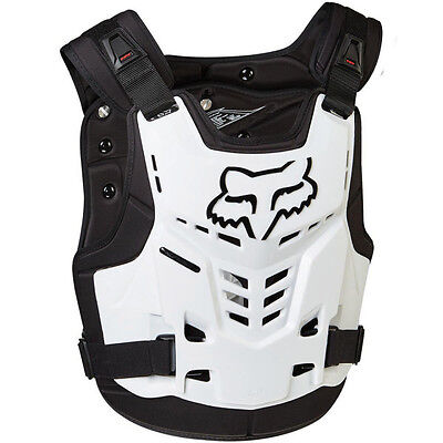 NEW FOX RACING PROFRAME Adult Body Armour WHITE Chest Protector Motocross Moto