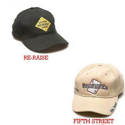 Cappello berretto Baseball  Caution Re-Raise E Texas Hold em Fifth Street 78e719483cbe