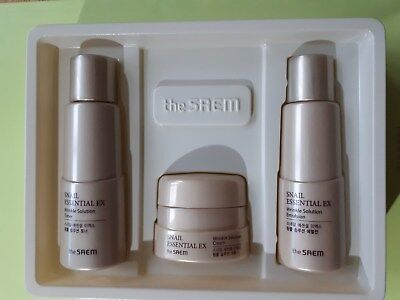 The Saem Wrinkle Solution Gift 3items *Snail Essential EX +age away serums Korea