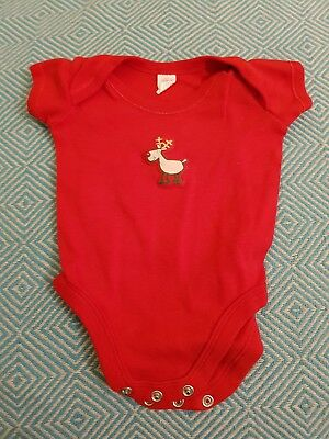 Baby Christmas Vest 0-3 size. Reindeer. First Christmas
