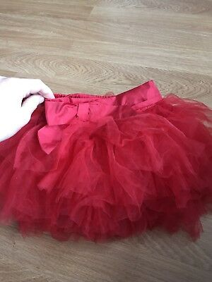 Girls Red Tutu Skirt By NEXT, Age 3-4 Years, Great Condition!!