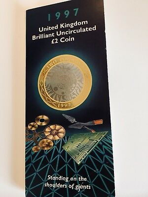 1997 UK Brilliant Uncirculated £2 Coin With Necklace.