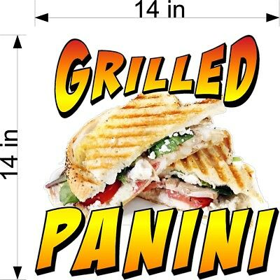 "14"" X 14"" Vinyl Decal Panini Grilled Sandwich New Design! Full Color Graphic"