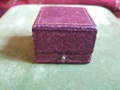 Antique Leather Ring Box by Appt. to H M The King Goldsmiths & Silvermiths Co.