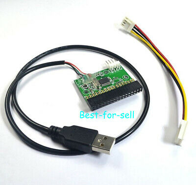 "1.44MB 3.5"" Floppy Drive Connector 34 PIN 34P to USB Cable Adapter PCB Board"