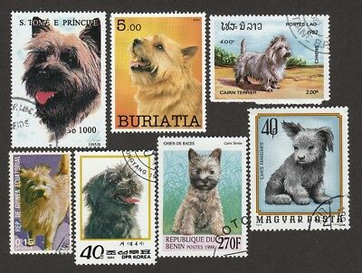 CAIRN TERRIER ** Int'l Dog Postage Stamp Collection  **Great Gift Idea**