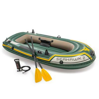 Intex 68347 Seahawk 2 Set Bateau Gonflable Pneumatique Sport Canot