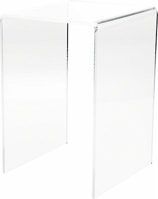 """Plymor Brand Clear Acrylic Tall Square Riser, 12"""" H x 8"""" W x 8"""" D 1/4"""" thick"""