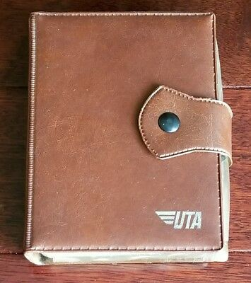 Old UTA Double Card Deck in Leather Case Vintage