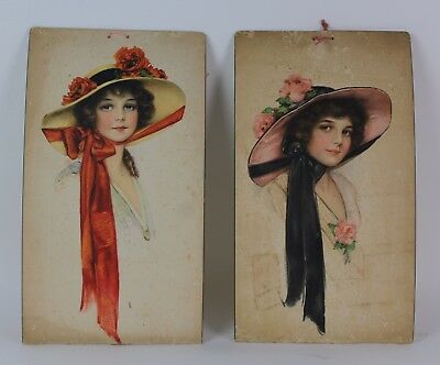 * Pair Of Advertising Posters Old Store Of Hats. Principles Xx Century.