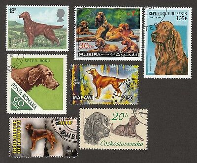 NEW**IRISH SETTER * Int'l Dog Postage Stamp Collection *Unique Gift*