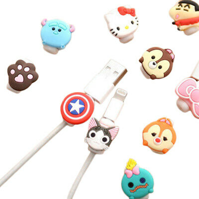 Cartoon Style Anti Breaking Data Cable Protector Storage Holder Organizer Winder