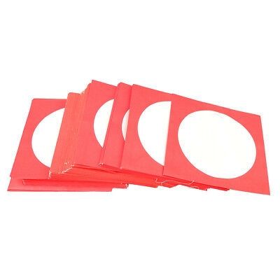 100 High Quality CD DVD Paper Sleeve Envelope with Window & Flap Red