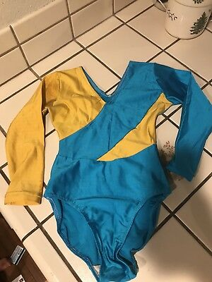 Vintage 80s Leotard Childs Long Sleeve