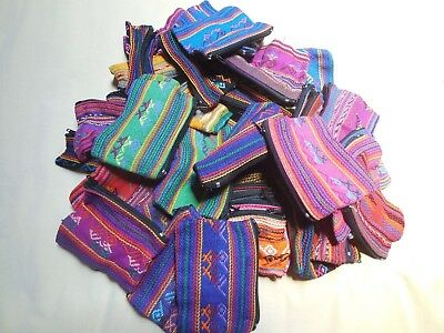 GUATEMALAN TREASURES Authentic Hand Made Woven Zip ID Coin Make-Up Pouch - NEW