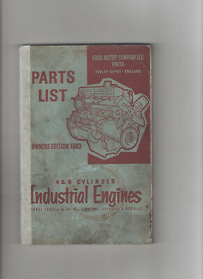 Ford 4 & 6 Cylinder Industrial Engines Parts List - Illustrated Diesel / Petrol