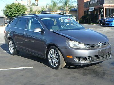 2012 Volkswagen Jetta SportWagen TDI w/Sunroof 2012 Volkswagen Jetta SportWagen TDI w/Sunroof Wrecked Crashed Perfect Project!