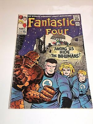 Marvel Comic Fantastic Four 45 December 1965 Inhumans