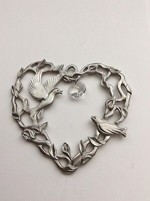 Ocean Art Pewter Christmas Ornament  Canada Doves Crystal Holiday Specials