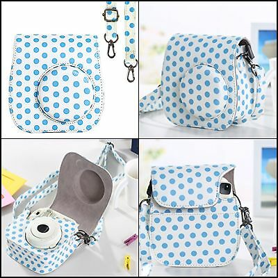 PU Leather Case for Fujifilm Instax Mini 8 9 Instant Film Camera Strap XMAS SALE