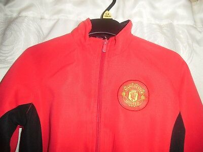 Boys Manchester United Tracksuit Jacket *Aged 7-8* Great Condition