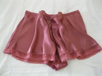 BNWT Vintage Glamour Style Luxury Silk French Knickers Size 20 Dusky Rose Pink