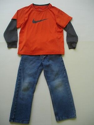 Boy 5 outfit - Levi's 514 Jeans and Nike Dri Fit Tee Shirt