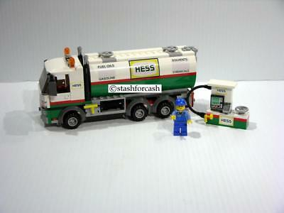 Hess Tanker Truck with Gas Pump Made with Lego's - MUST SEE FANTASY PIECE!